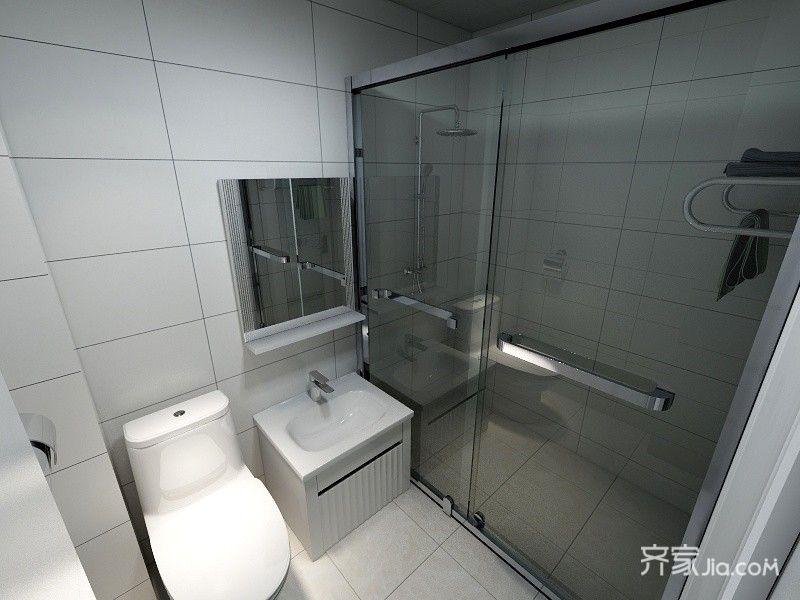 二居室现代简约风格卫生间装修效果图