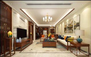 120平三居中式风格装修效果图