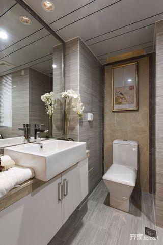 三居室现代中式风格卫生间装修效果图