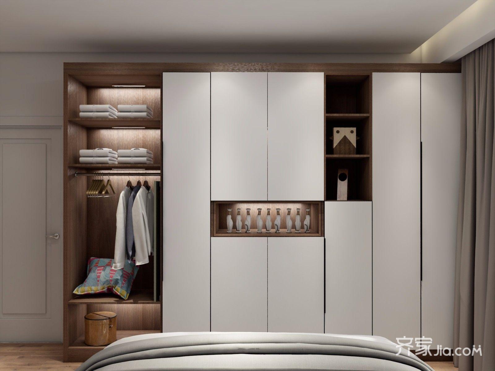 二居室简约风格装修衣柜设计效果图