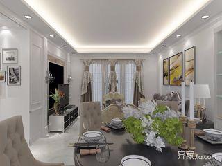 90㎡现代风格三居室装修吊顶效果图