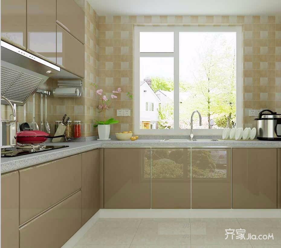 140㎡现代简约风格装修厨房设计图