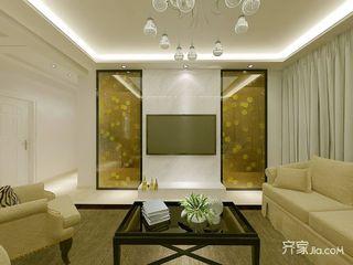 110㎡三居室现代简约装修电视背景墙效果图