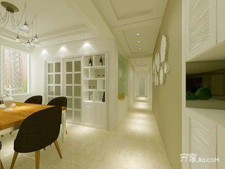 110㎡三居室现代简约餐厅装修效果图