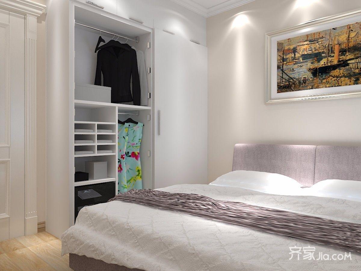 北欧混搭风格三居装修衣柜设计效果图