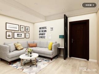 小户型一居室简约装修效果图