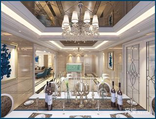 豪华欧式风格四房装修餐厅效果图