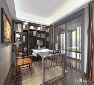 新中式风格复式三居书房装修效果图