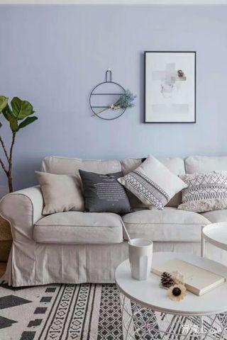 小户型北欧风三居装修沙发背景墙图片