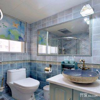 118平地中海二居装修卫生间布局图