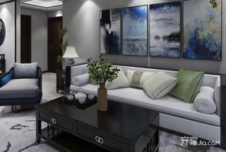 100平現代中式三居裝修效果圖
