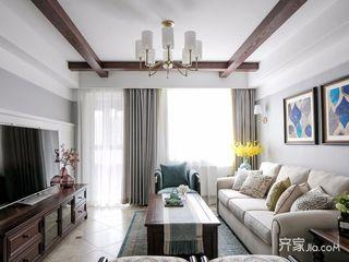 110㎡美式三居设计 素雅温馨