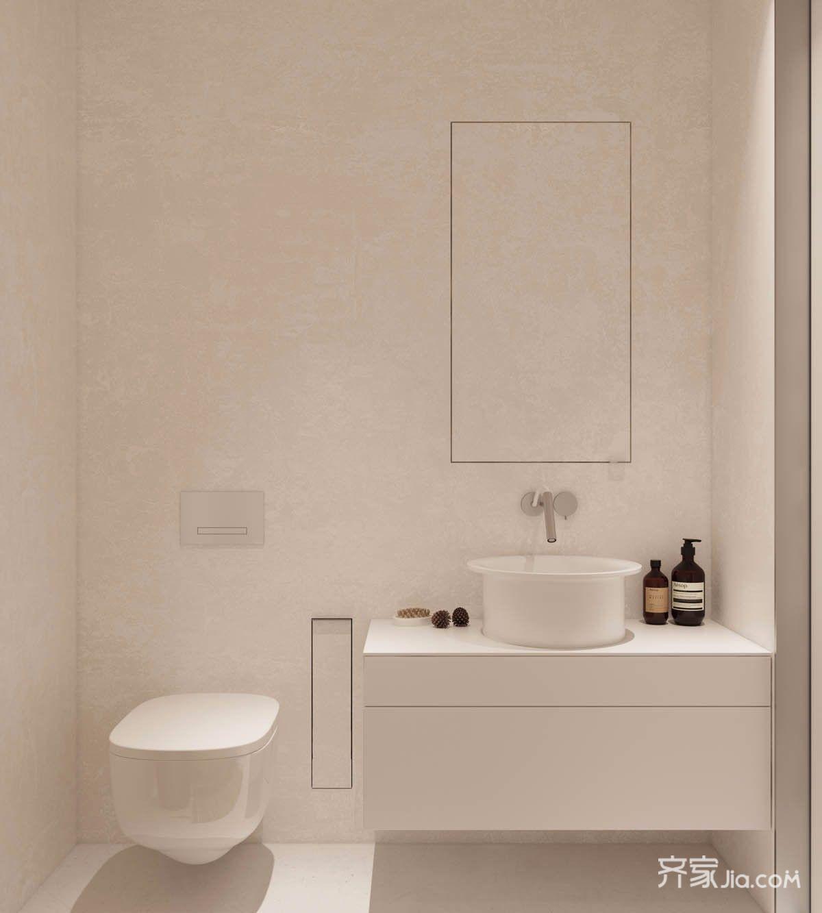 小户型极简风格卫生间装修效果图