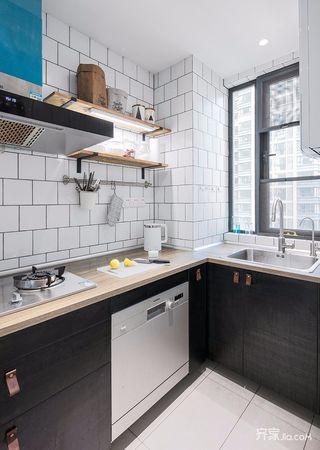 130平简约风格三居厨房装修效果图