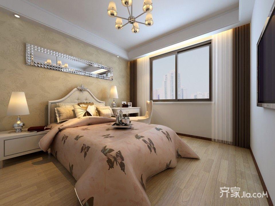 现代简约风格三居卧室设计效果图