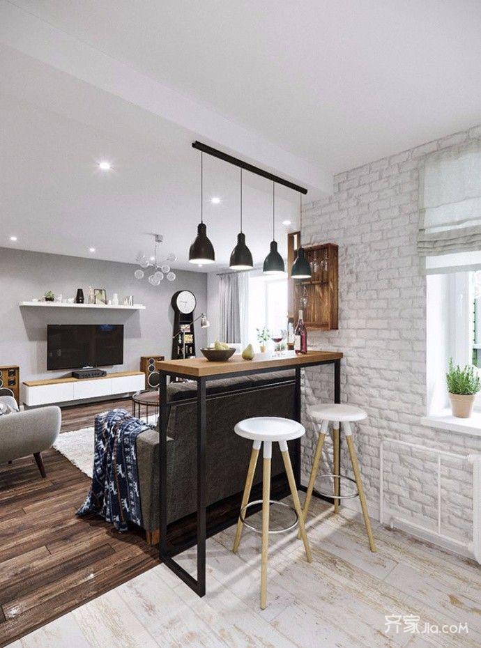 两居室宜家风格装修吧台设计
