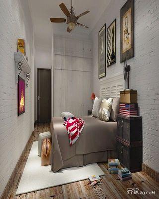 简约青年公寓装修卧室效果图