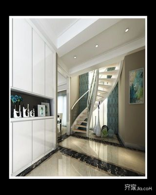 大户型复式装修楼梯设计效果图