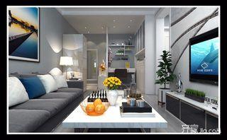 75平现代简约两居装修效果图