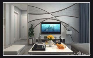 75平现代简约两居装修电视背景墙设计图