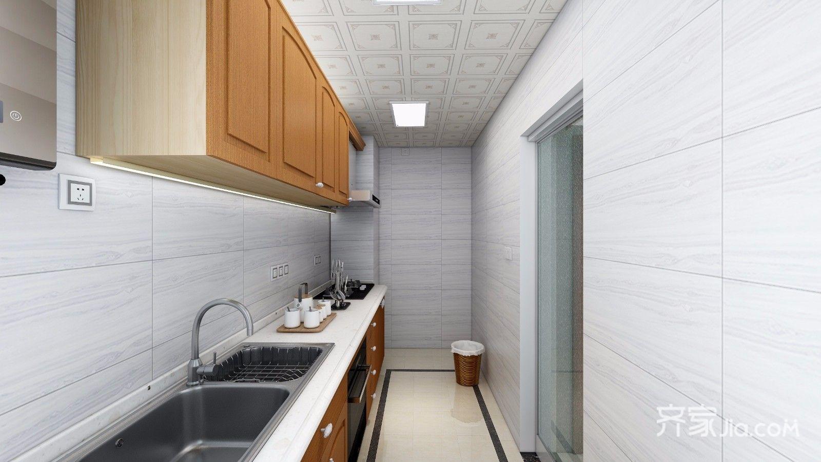 三居室简约风装修厨房设计效果图