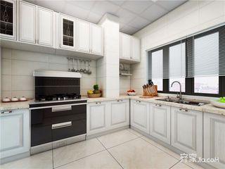古典美式风格四房装修厨房效果图