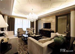 135平欧式三居装修客厅搭配图