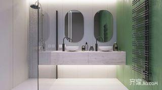 小户型北欧风公寓装修洗手台设计图