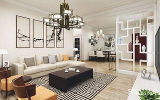90平新中式两居装修效果图