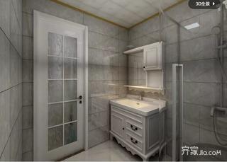 130㎡两居室简欧风卫生间装修效果图
