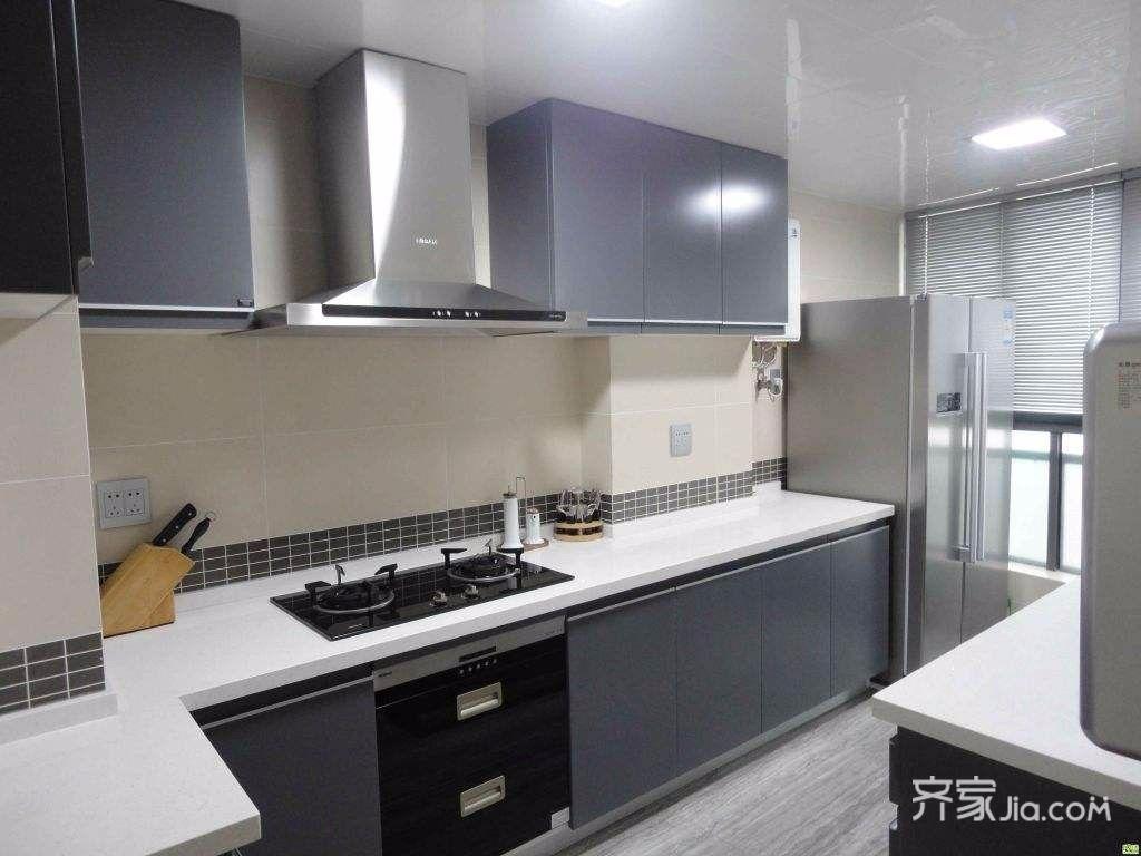 高级灰新古典主义装修厨房设计图