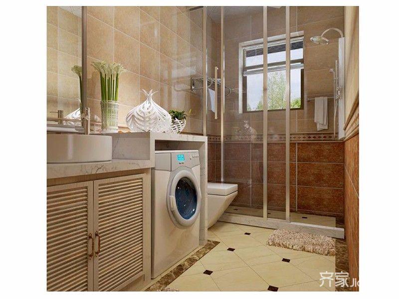 现代简约两居之家卫生间装修效果图