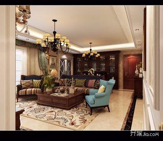 130平米美式三居装修效果图