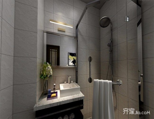 现代简约风格四房卫生间装修效果图
