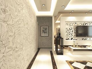 130平现代风格装修吊顶设计图