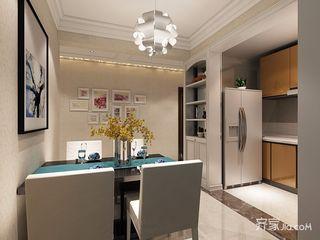 125平现代简约风格装修餐厅背景墙效果图