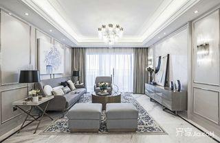大户型奢华美式客厅装修效果图