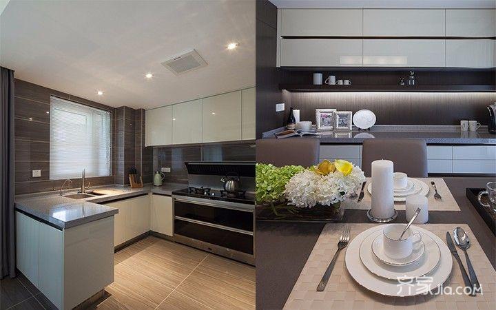 现代简约三居之家厨房装修效果图