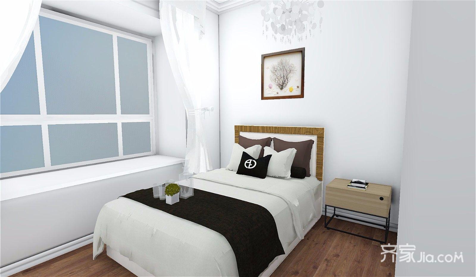 73平简约三居室卧室装修效果图