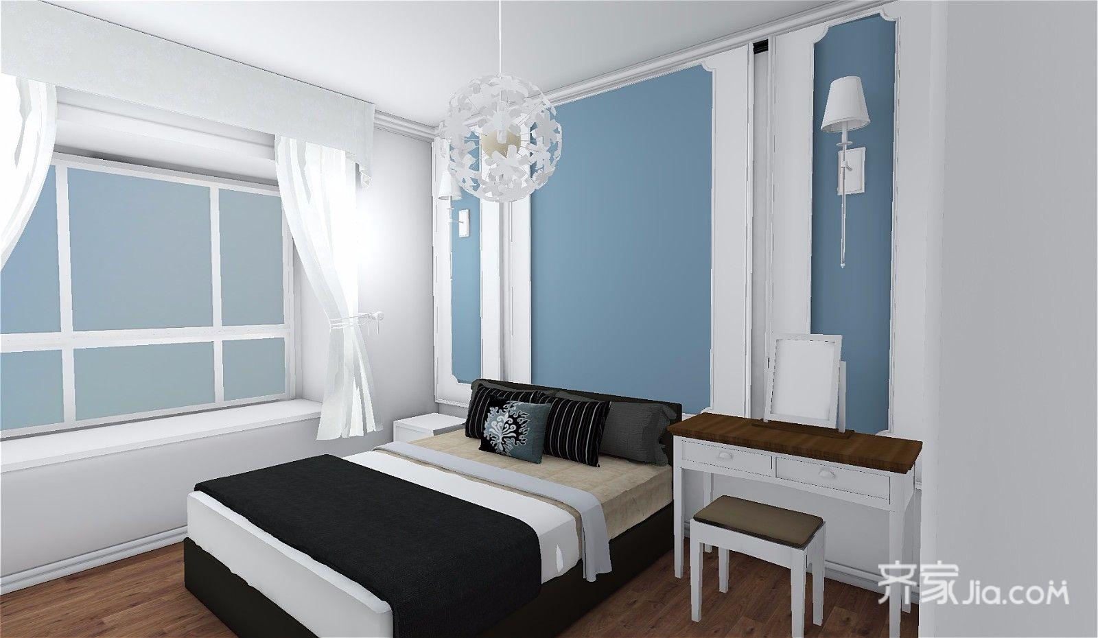 73平简约三居室装修卧室设计效果图