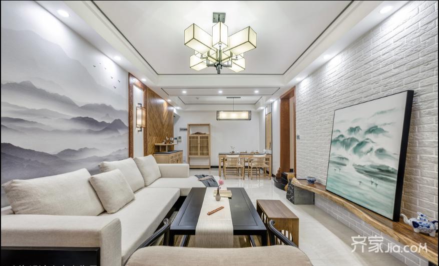 100平米中式风格家客厅效果图