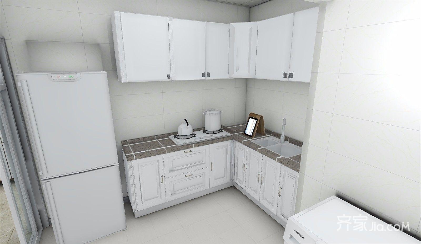 73平简约三居室厨房装修效果图