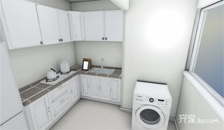 73平简约三居室装修橱柜设计图