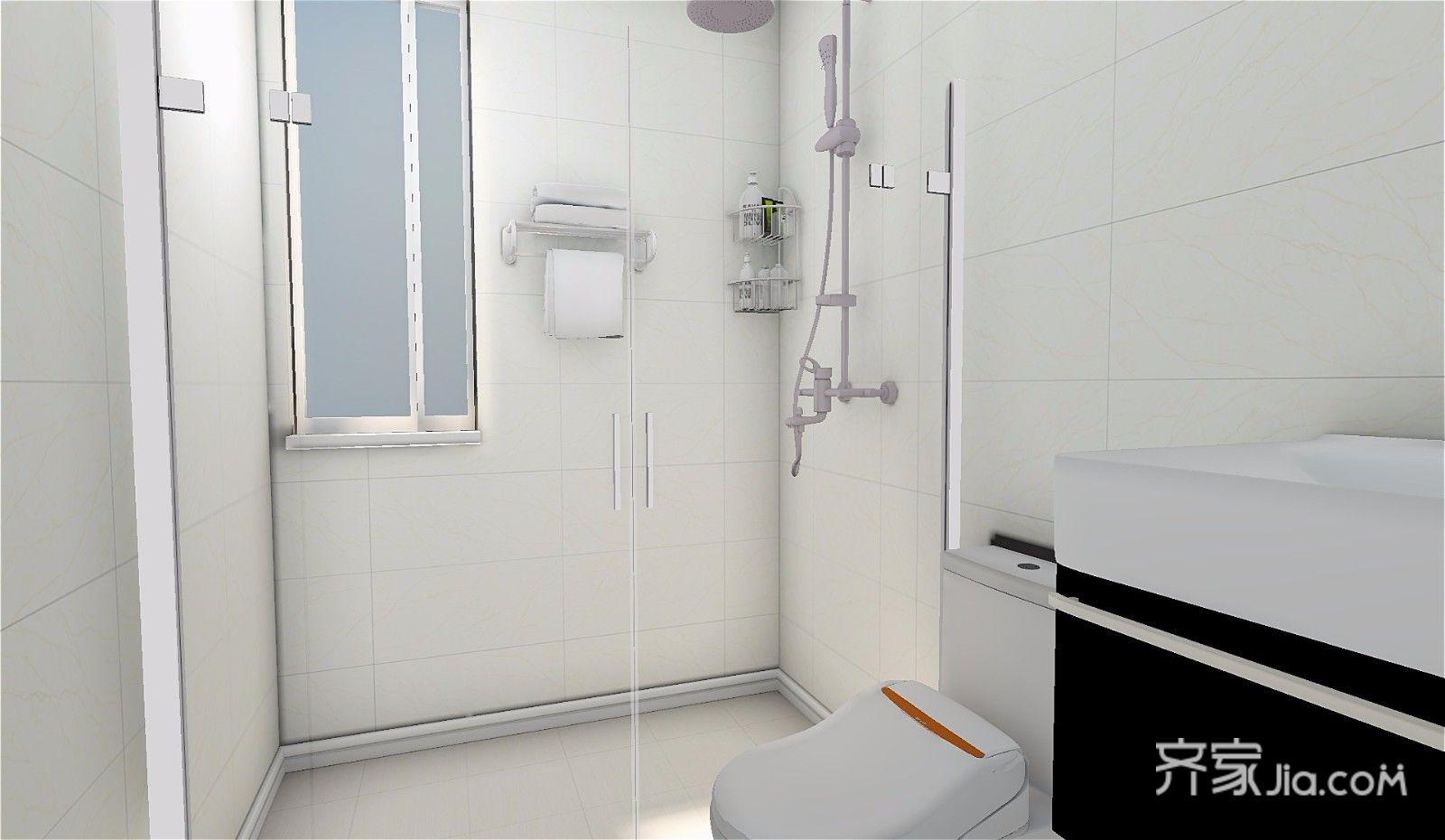73平简约三居室装修淋浴房设计效果图