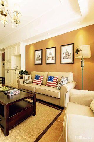 二居室田园风设计沙发背景墙