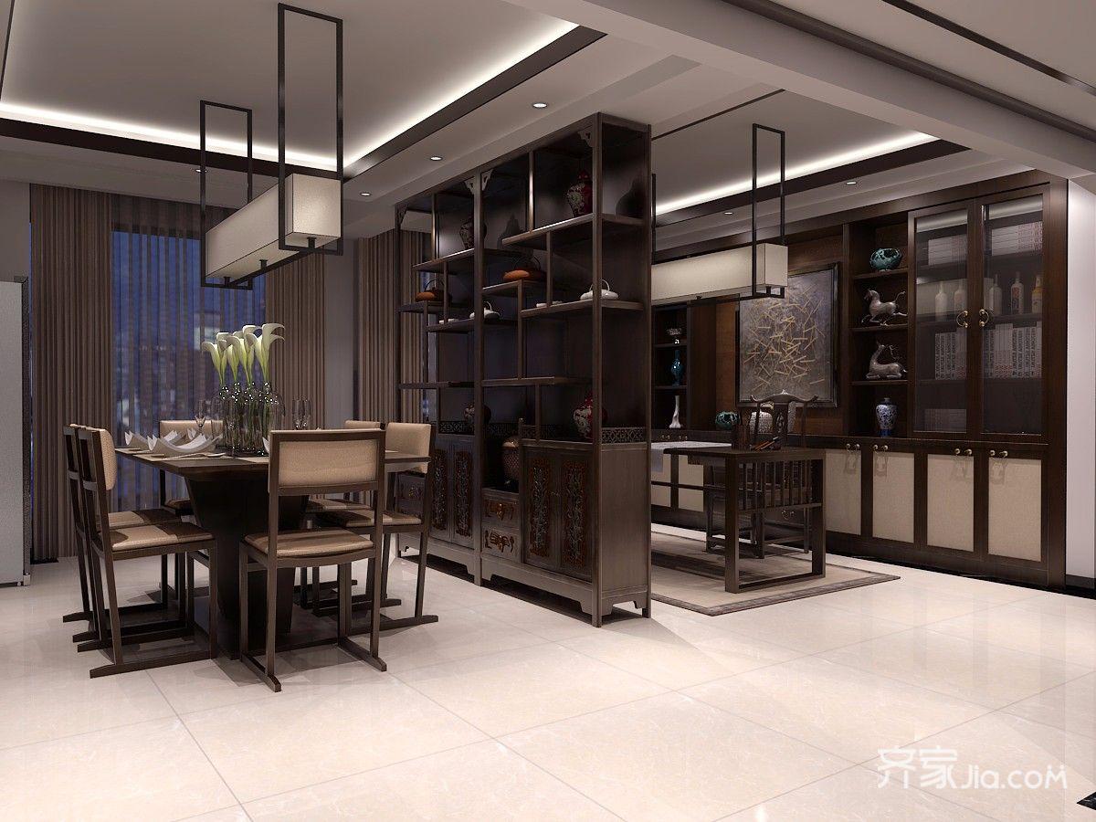 178㎡中式装修餐厅效果图
