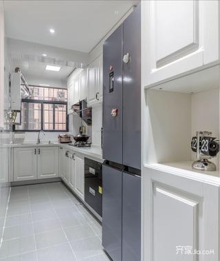 96平简约三居室装修厨房构造图