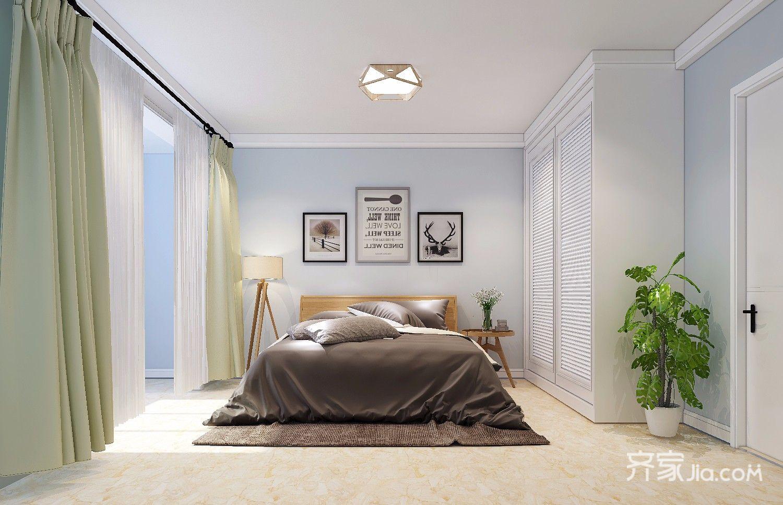 北欧风二居室设计卧室效果图