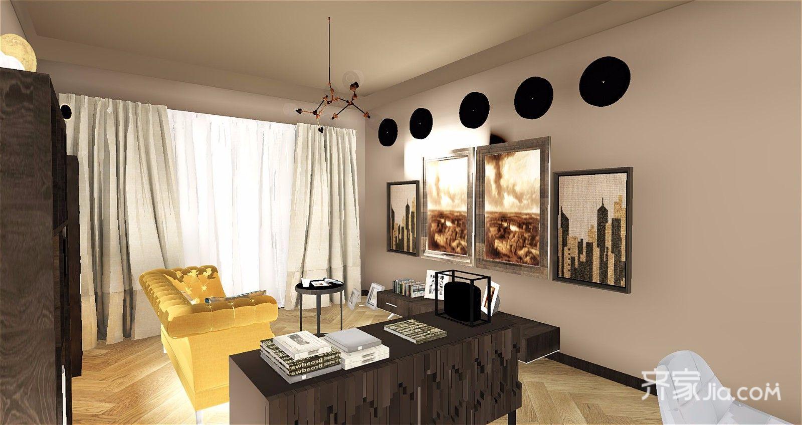 65平简约风格公寓客厅装修效果图
