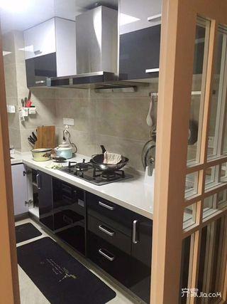 107平简约风格装修厨房实景图